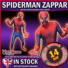 "MENS AMAZING SPIDERMAN 2 ZAPPER MORPHSUIT SUPERHERO FANCY DRESS COSTUME LARGE 5' 4"" TO 5' 10"" HEIGHT"
